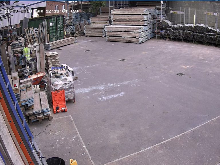 Vardycam Builders Yard CCTV camera